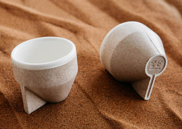 RAMEL Coffee Cup Made of Desert Sand by The Foundry by Tinkah
