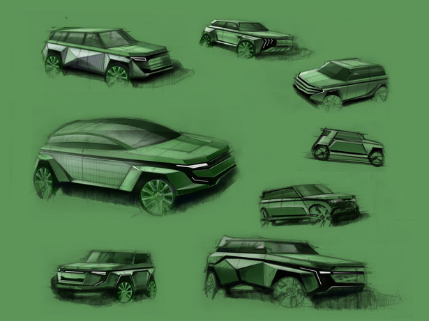 Range Rover Diamond Concept Car by Manole Romulus