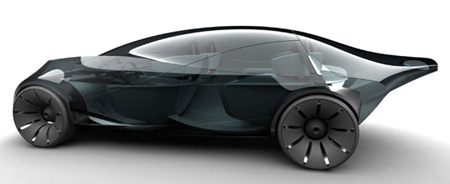 rca sleek and sustainable car concept