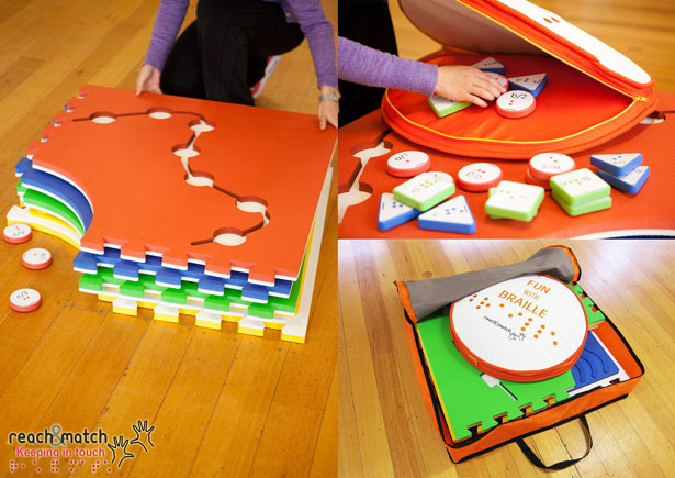 Reach & Match Braille Learning Toy : Easy Introduction to Braille