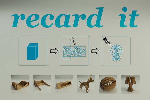 """Recard it"""" Post Office Cardboard Box Can Be Transformed Into Different  Objects - Tuvie"""