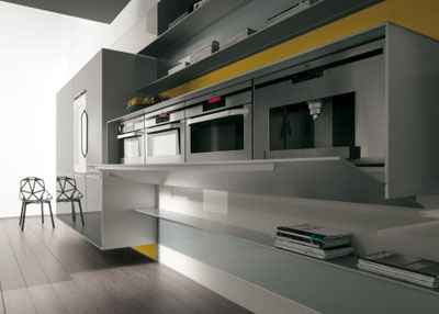recyclable kitchen from valcucine