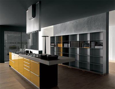 recyclable Artematica Vitrum yellow kitchen