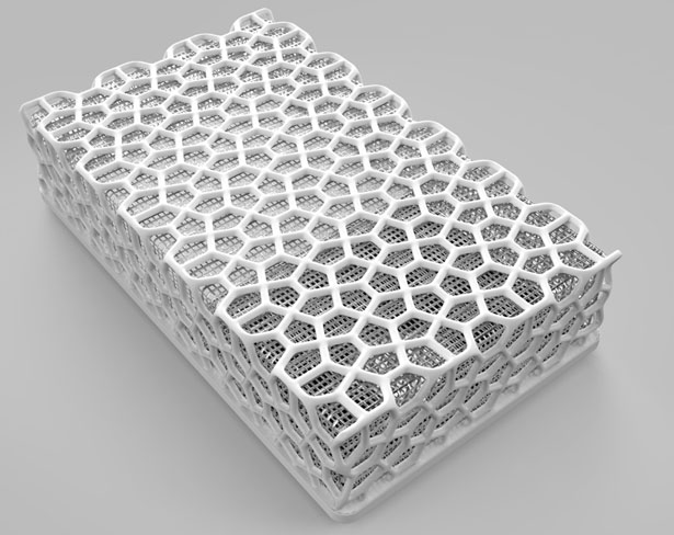 Recycled Tires Weave Exoskeleton for Hard Drive Cooling