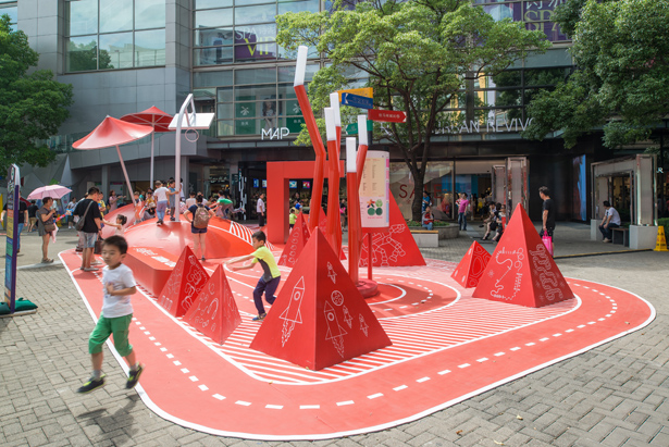 Red Planet Public Space Playground by 100Architects