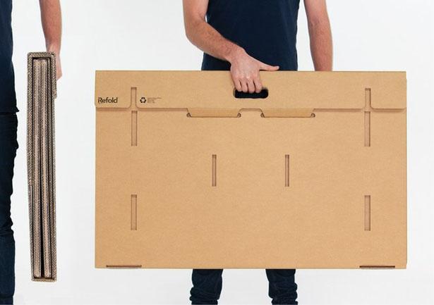Refold's Portable Cardboard Standing Desk