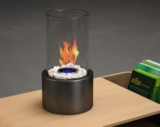 Regal Flame Eden Tabletop Bio Ethanol Fireplace Creates Warm and Romantic Ambience
