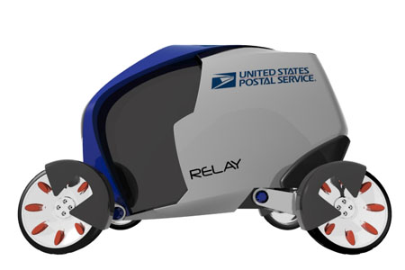 relay urban delivering vehicle