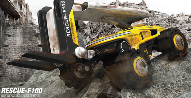 Rescue F-100 Concept Forklift by Kim KwangSik