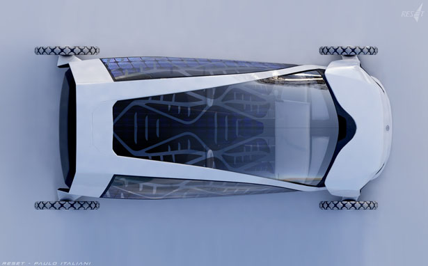 RESET convertible concept car by Paulo Gustavo Italiani