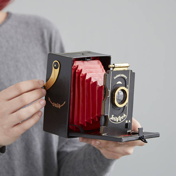 Retro Cardboard Instant Camera Where Old Meets New
