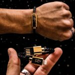 Stylish Revive Charging Bracelet with 18k Gold Plated Connector