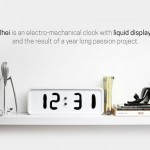 Rhei Liquid Clock Creates Beautiful Illusion Where Time Always Moves