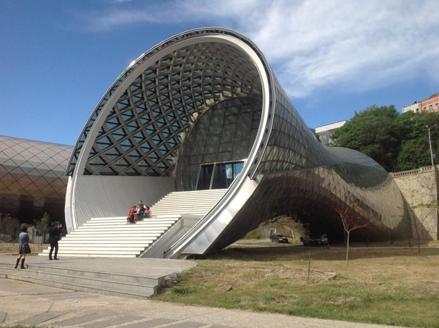 Rhike Park Music Theater and Exhibition Hall by Fuksas