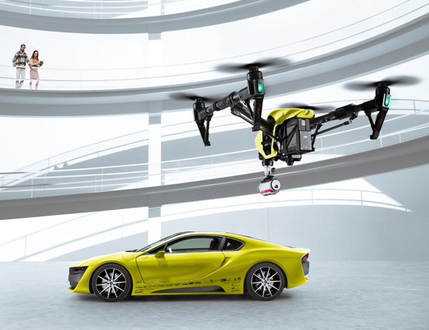 Rinspeed Drone Equipped Etos Autonomous Concept Car