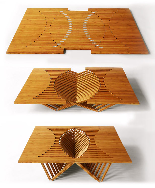 Rising Furniture Series - Rising Table by Robert van Embricqs