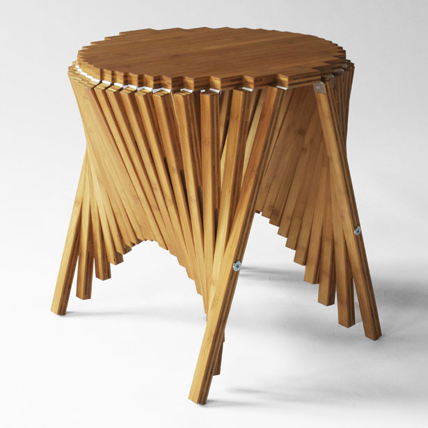 Rising Furniture Series - Rising Side Table by Robert van Embricqs