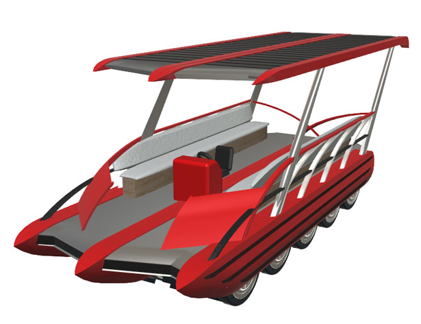 River Roller Concept Boat by Matthew Lee Towne