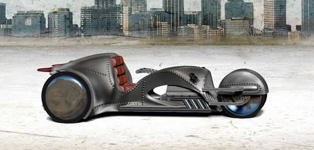 Rivet One Motorcycle by William Shatner and American Wrench