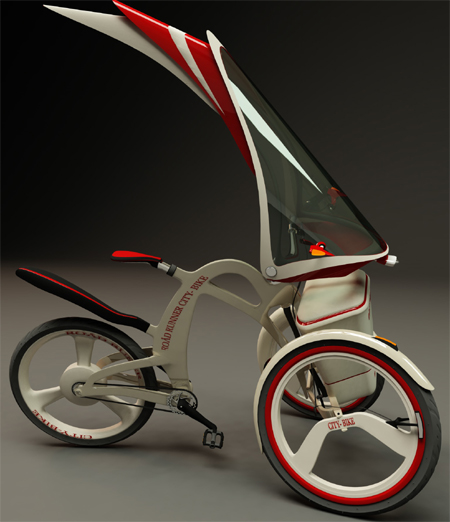 Innovative Roadrunner Trike : Three Wheeler Transporation with Electric Motor Rear Wheel