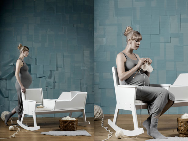 Rockid Rocking Chair Cradle by Ontwerpduo
