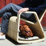 Rocking 2-gether Chair : A Rocking Chair with Built-in Pet House by Paul Kweton