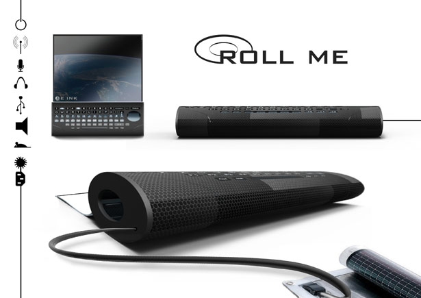 Roll Me Green Personal Computer for Mobile Use