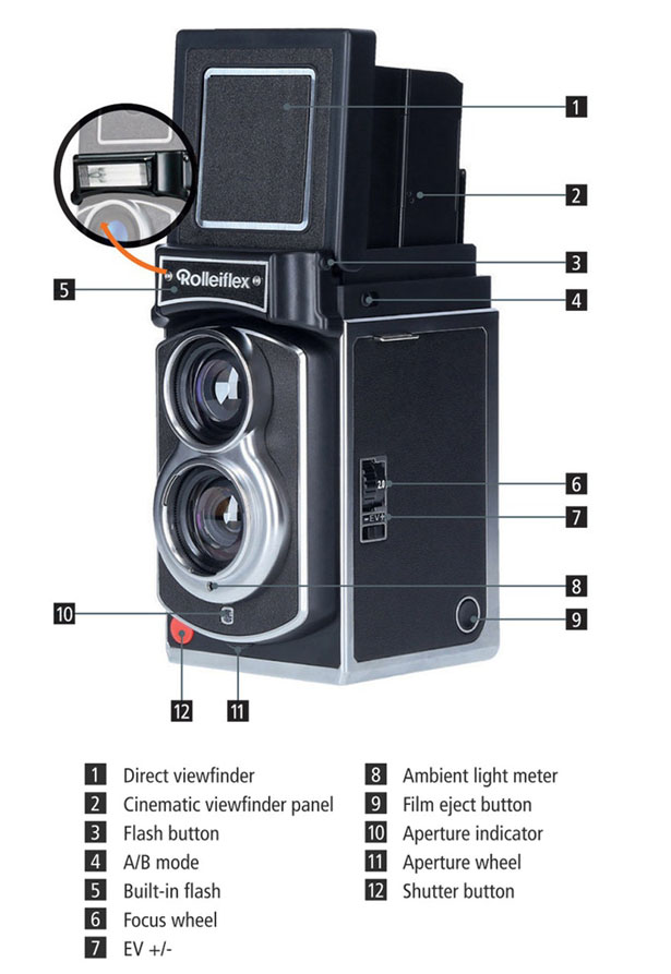 Rolleiflex Instant Camera Features Legendary Twin Lens Design with Modern Features