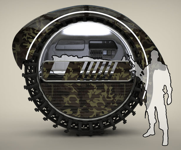 RollEvac Military Med-Evacuation Vehicle Concept by Sadok Sakly