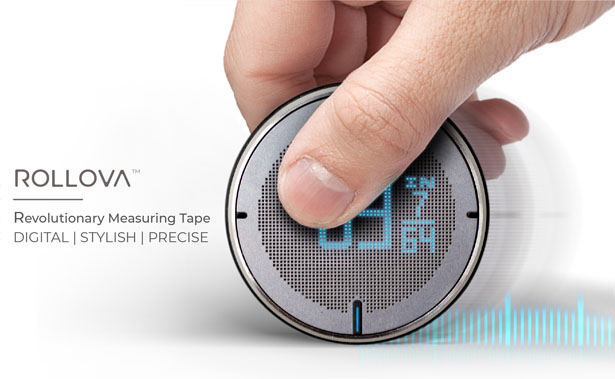 ROLLOVA: Compact Digital Rolling Ruler by Hozo Design