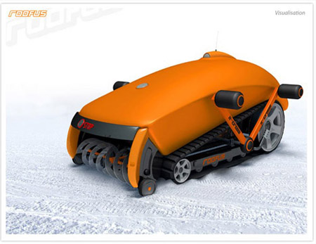 Roofus, Snow Mowing Robot with Remote Controls
