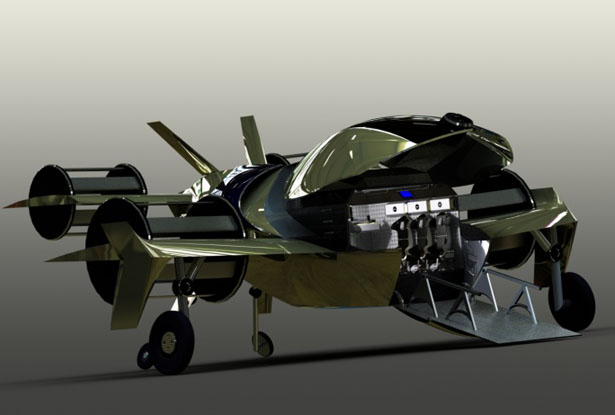 ROTE-A Libellule Remotely Operated Aircraft by Marc-Rhauny Dor