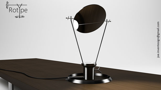 RotYpe Lamp Design by Joe Sardo