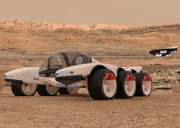 Futuristic Remote Operations Vehicle and Observatory (ROVO) for NASA by Lee Rosario