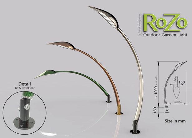 ROZO Outdoor Garden Lighting by Patrick Weingartner