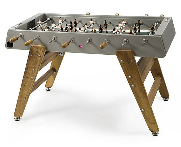 RS Barcelona RS3 Wood Inox Foosball Table by Rafael Rodriguez