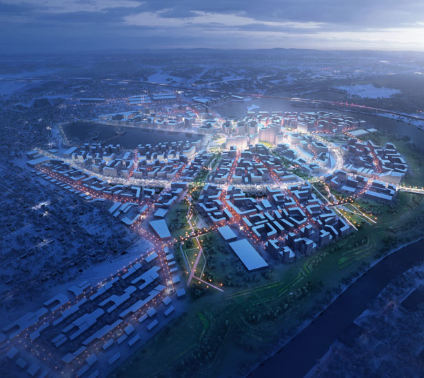 Rublyovo-Arkhangelskoye Smart City West of Moscow by Zaha Hadid Architects