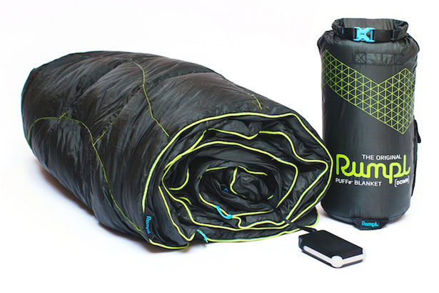 Rumpl Puffe Portable Battery Powered Heated Blanket by GoRumpl