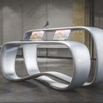 Ryra Reception Desk Plays With Continuous Loop Form to Create Dual-Surface Desk