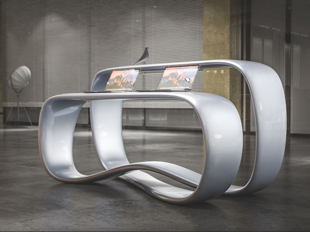 Ryra Reception Desk by Nuvist