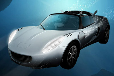 squba underwater car concept from rinspeed tuvie. Black Bedroom Furniture Sets. Home Design Ideas