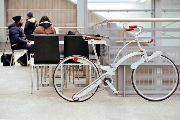 Sada Spokeless, Foldable Bike by Gianluca Sada