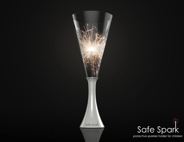 Safe Spark Protective Sparkler Holder for Children by Kathleen Carron