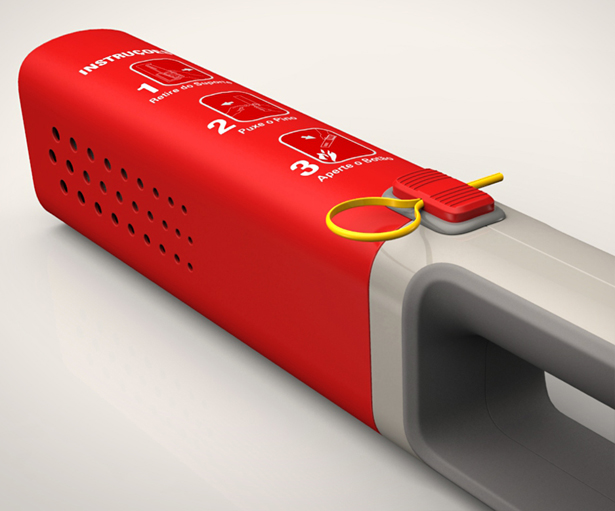 SafeHome Domestic Fire Extinguisher by Moises Hansen