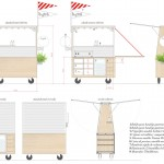 Salchibotxo Modern Hot Dog Concept Cart for Bistro Guggenheim