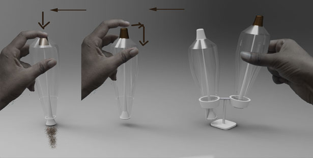 Salt and Pepper Tubes by Anoop Joseph