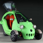 Sam Three Wheeled Small Electric Vehicle for Future Urban Mobility