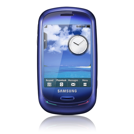 samsung blue earth cell phone is made from recycled. Black Bedroom Furniture Sets. Home Design Ideas