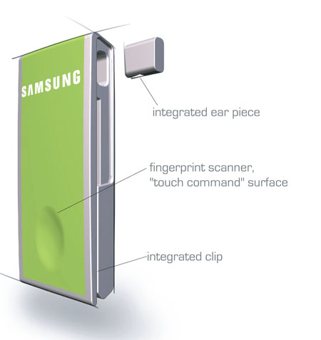 intouch samsung cell phone concept