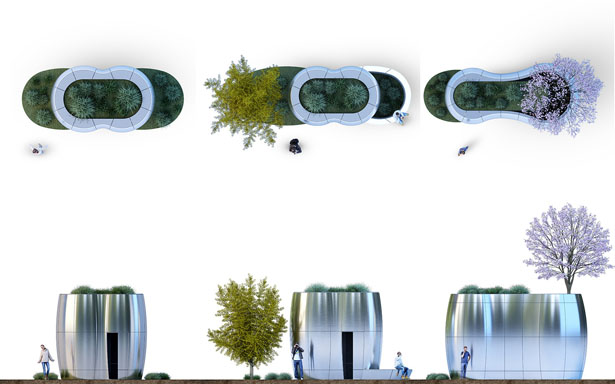 AmeniTREES - Toilet and Kiosk with A Green-Tech Vibe for San Francisco